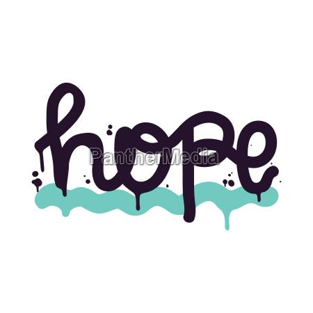plakat vector schriftzug hoffnung