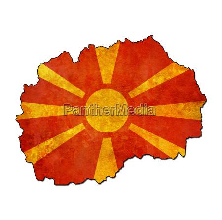 mazedonien gebiet mit flagge