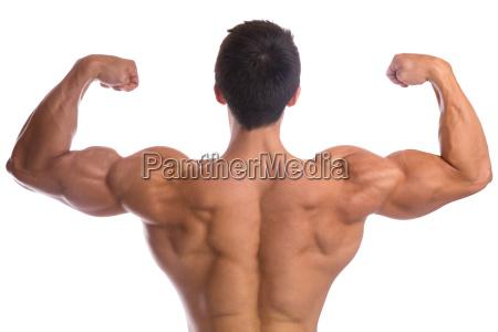 bodybuilder bodybuilding muscles back pose biceps