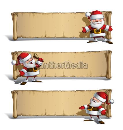happy santas papyrus announcing set
