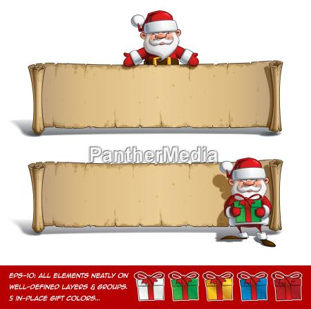 happy santas papyrus presenting