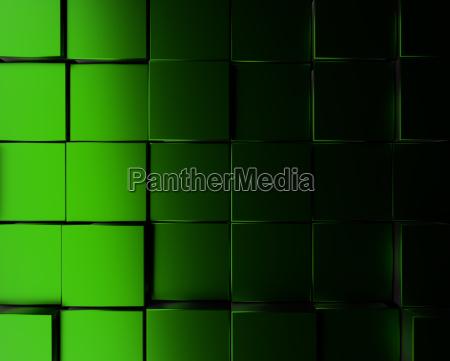 green metallic cubes background