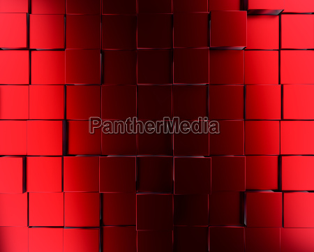 red metallic cubes background