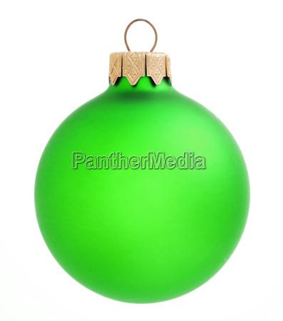 green christmas ball on white backgroundxmas