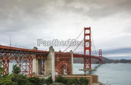 golden gate bridge in a cloudy