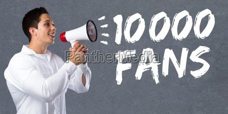 10000 zehntausend fans likes soziale medien