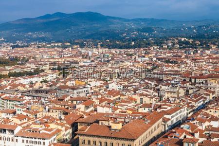 florenz skyline der stadt von campanile