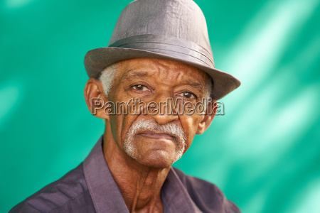 people portrait serious elderly african american