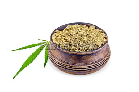 flour hemp in bowl