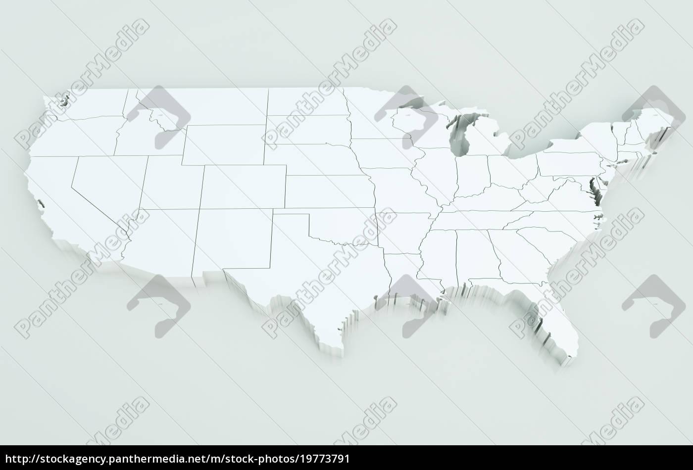 Map of USA. Highly detailed 3D rendering - Lizenzfreies Bild ... Detailed Usa Map on