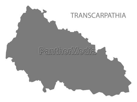 transkarpatien ukraine karte grau