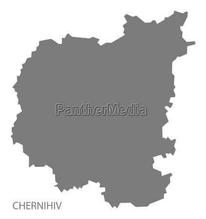 tschernigow ukraine karte grau