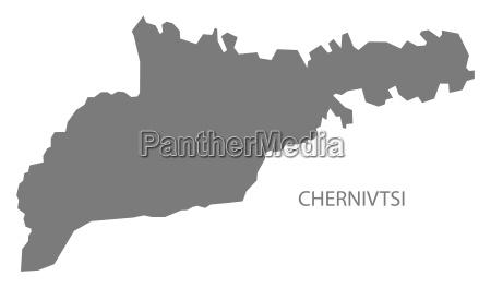 czernowitz ukraine karte grau