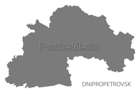 dnipropetrovsk ukraine karte grau