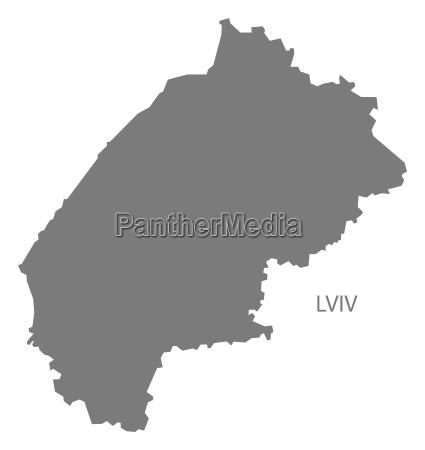 lviv ukraine karte grau