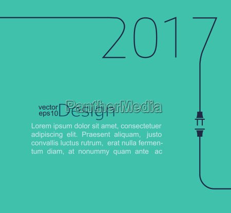 new year 2017 with plug and