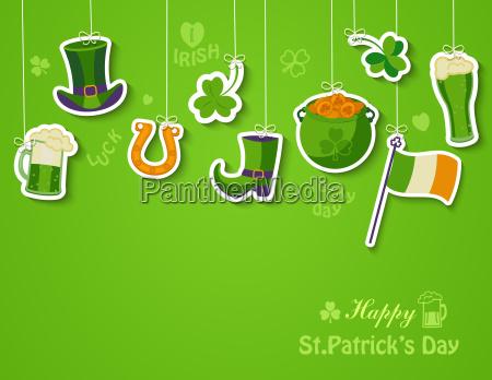 happy st patricks day greeting card