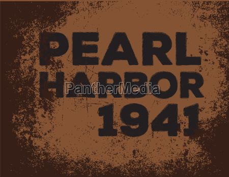 perlenhafen 1941 logo vektor retro