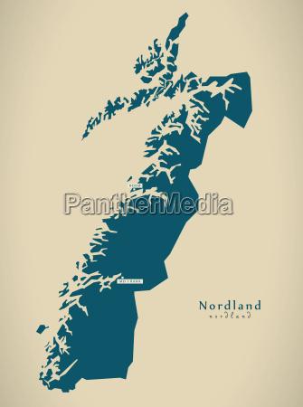 modern map nordland norway no