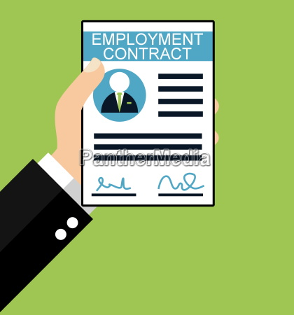 employment contract flat design