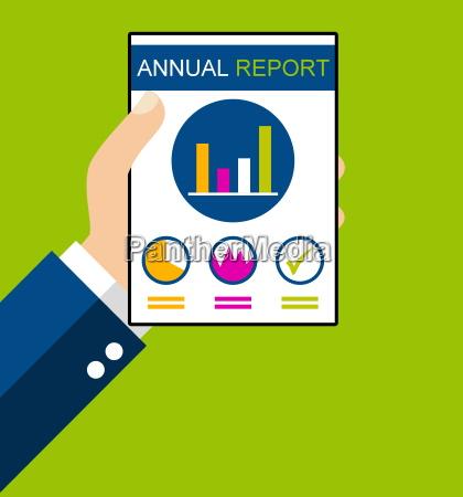 annual report flat design
