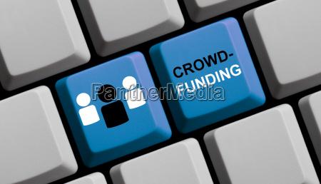 blue computer keyboard crowdfunding