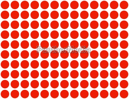 red dots on white background