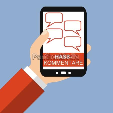 hasskommentare auf dem smartphone
