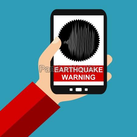erdbeben warnung auf dem smartphone