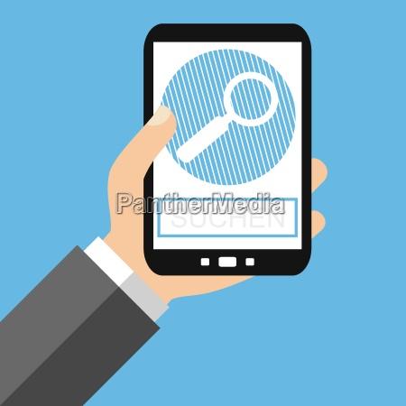 suchen mit dem smartphone