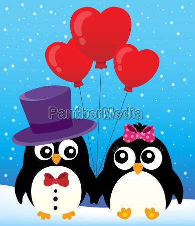valentine pinguine thema bild 2