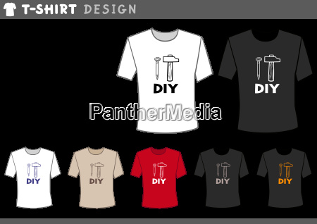 t shirt design with hammer and