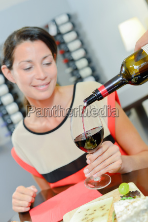 woman in a wine bar