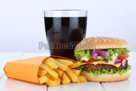 cheeseburger hamburger menu menue menue pommes