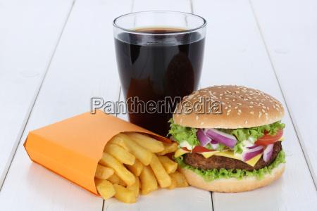 cheeseburger hamburger menu menue menu pommes