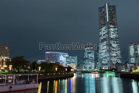 city in japan at night