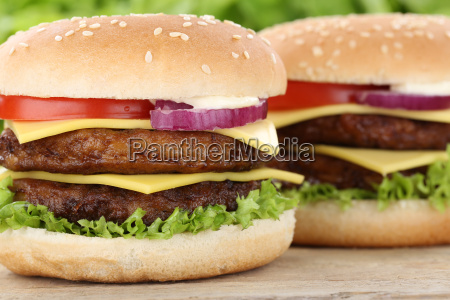 double cheeseburger hamburger burger closeup closeup
