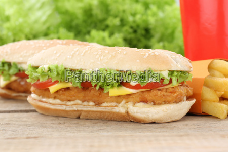 chickenburger chicken chicken burger hamburger menu