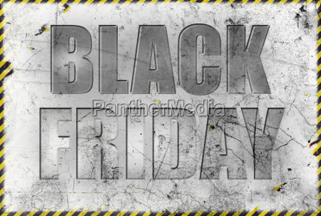 black friday label in grunge style