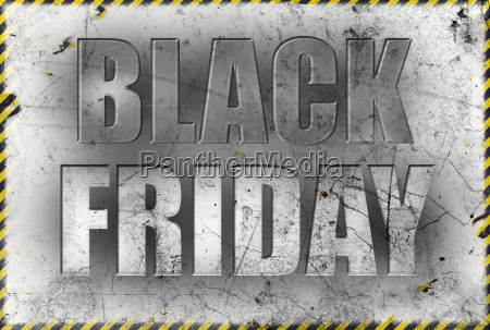 black friday poster in grunge style