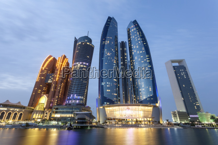 etihad towers in abu dhabi uae