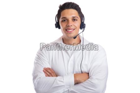 mann headset telefon call center agent