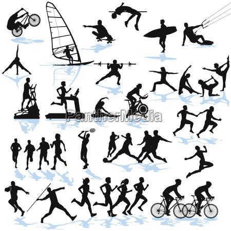 sport athletics illustration collection