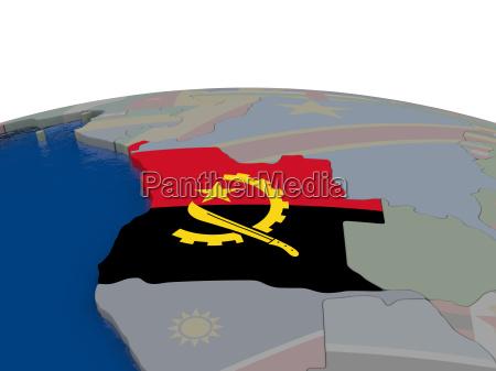 angola mit flagge
