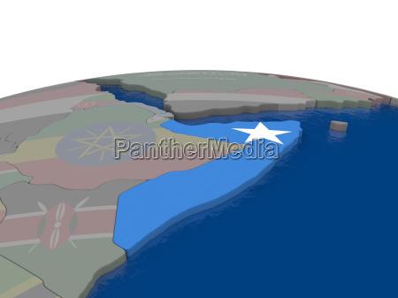 somalia mit flagge