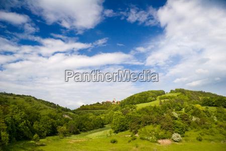 thuringian countryside with leuchtenburg