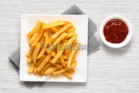 knusprige hausgemachte pommes frites