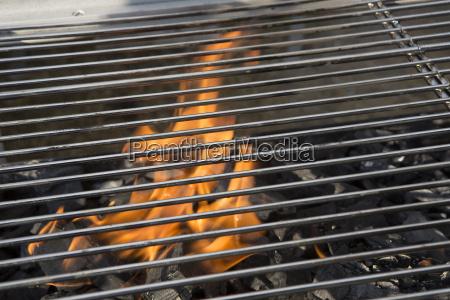 closeup of a charcoal grill