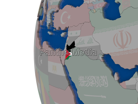 jordanien mit nationalflagge