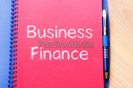 business finance concept on notebook